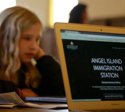 Charter kids experience Angel Island immigration process