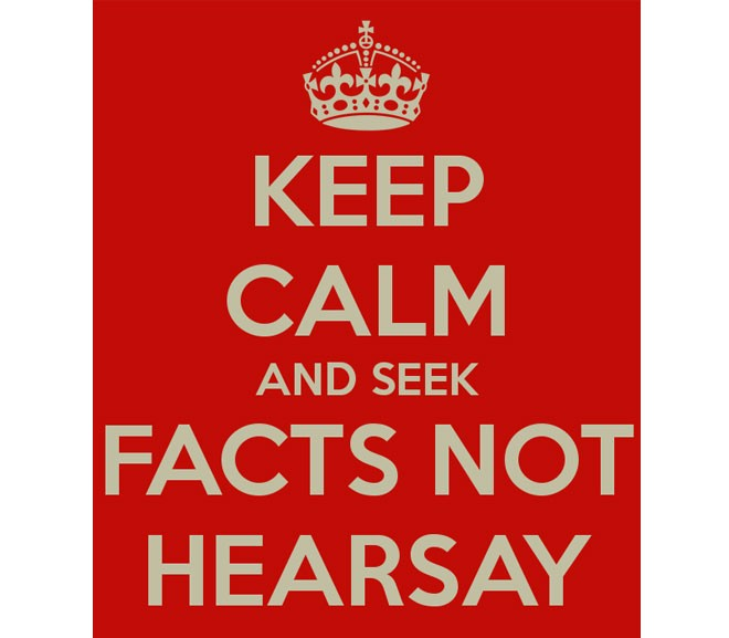 Prop 39 – Facts Not Hearsay